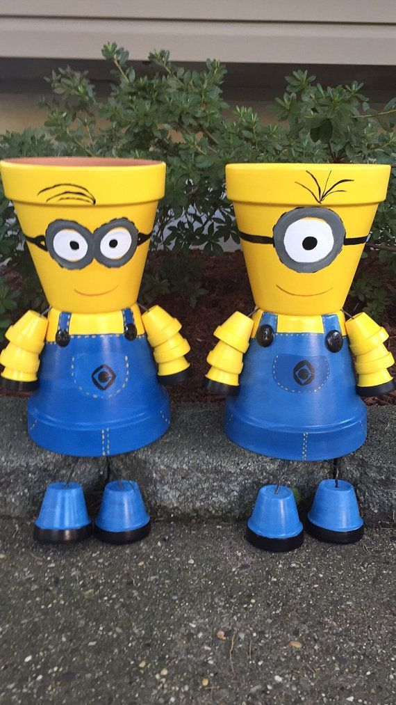 31 best minion terra cotta pots images on pinterest clay