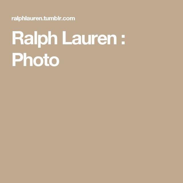 Ralph Lauren : Photo