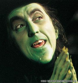 """The Wizard of Oz"" -- Margaret Hamilton as The Wicked Witch"