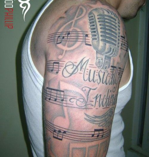 25 einzigartige musik tattoo designs ideen auf pinterest musiktattoos musiknoten tattoos und. Black Bedroom Furniture Sets. Home Design Ideas