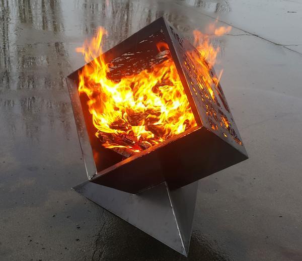 20 Cube Firepit Custom Fire Pit Fire Pit Gallery Metal Fire Pit