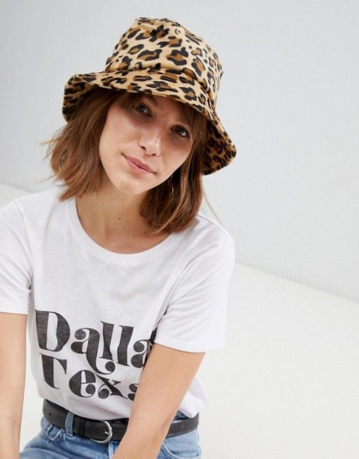 2f6e40f53883ac Stradivarius leopard bucket hat in 2019 | Fashion | Bucket hat ...