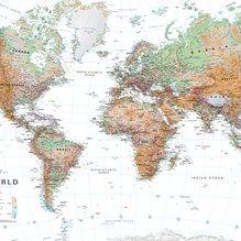 muurdecoratie wanddecoratie wereldkaart wereld landen