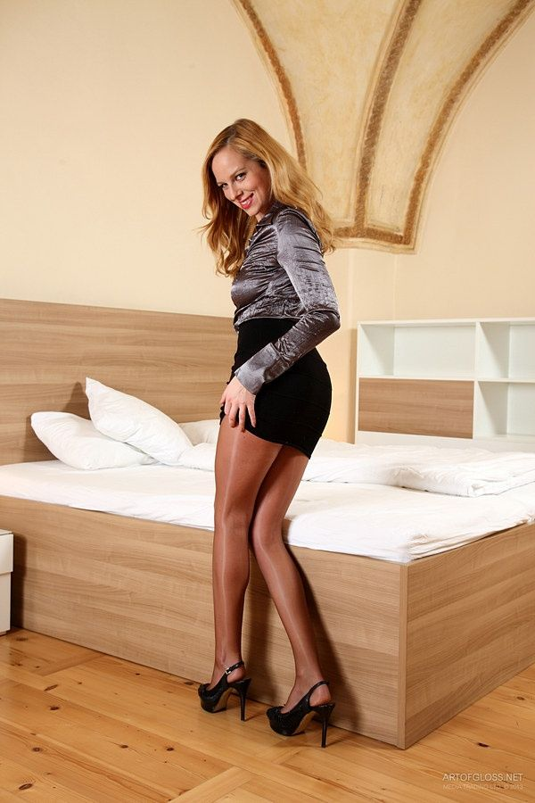 with satin blouse Pantyhose