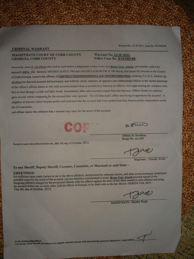 Unjust Cobb County Arrest http://1drv.ms/1sBJ8x7