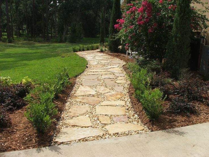 65 best walkway and stoop images on pinterest decks for for Rock stepping stones landscaping