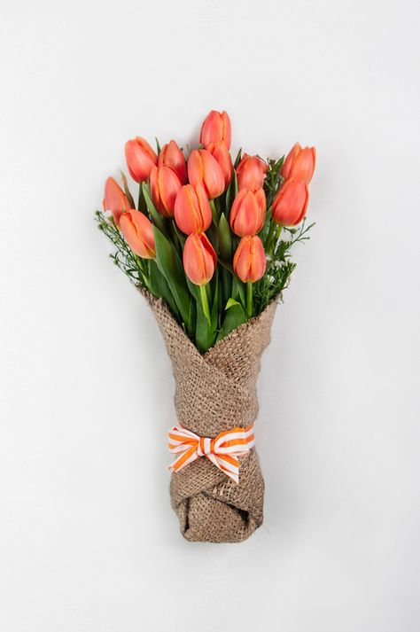 bouquet sposa tulipani arancioni