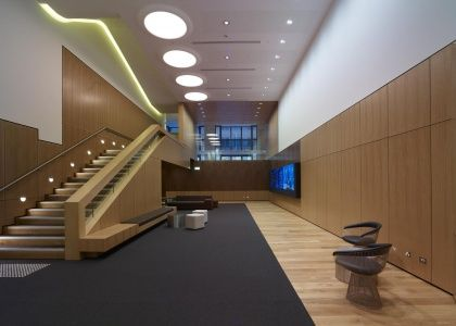 WMK Architects  ASX project Timber panels perforated by Keystone