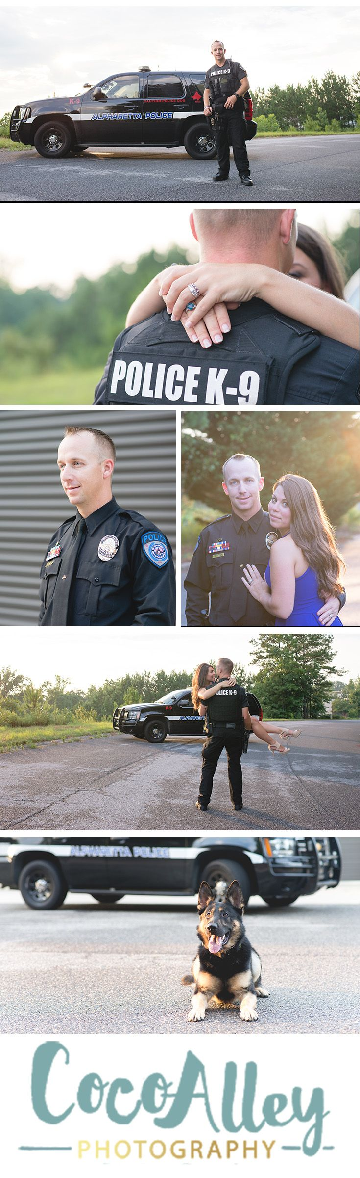 A great way to honor a loved service man or woman is with family portraits | police family | pictures with your hero |
