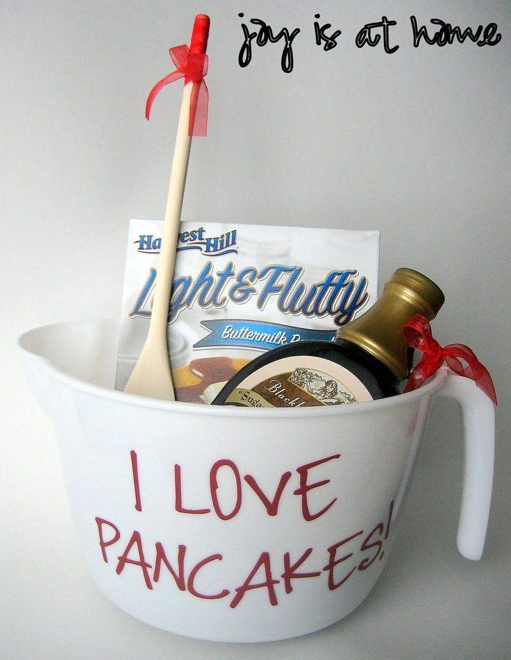 Bridal Shower \u2013 Door Prize idea Pancake lover basket (measuring bowl batter & 12 best DIY Door Prizes images on Pinterest | Gift ideas Hand made ...