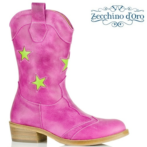 Berry little girl cowboy boots by Zecchino d'Oro