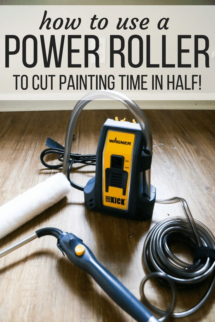How To Use The Wagner Smart Sidekick Power Roller To Make Painting A Room Faster Easier And Wa Diy Furniture Building How To Make Paint Paint Colors For Home