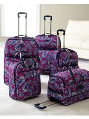 Vera Bradley luggage.