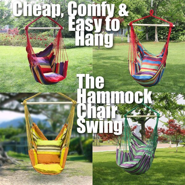 Where to Buy a Cheap and Comfortable Hammock Swing Chair, How to Hang it from a Tree or Inside the House, Plus How to Make Your Own...
