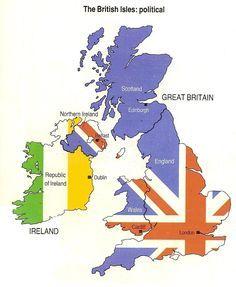Un petit diaporama et une carte pour découvrir l'organisation des îles britanniques.