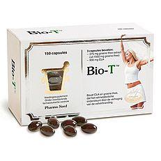 Pharma Nord Bio-T Afslankpillen 150caps  Bio-T: CLA en groene thee extract - voor een verhoogde vetverbranding Voldoet aan de farmaceutische richtlijnen voor productie en de EU-regels voor voedingssupplementen Bio-T van Pharma Nord ondersteunt de verbranding van vet in het lichaam. Voor het behoud van een slank figuur of zelfs gewichtsverlies.1 capsule bevat:       Plantaardige vetzuren - CLA 400TM:   500 mgwaarvan 80% geconjugeerd linolzuur (C.L.A.):  400 mgGebruik:1-2 capsules drie keer…