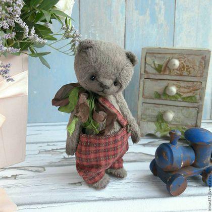 Купить Капитошка - серый, мишка, мишка тедди, тедди, тедди медведи, подарок, авторский мишка