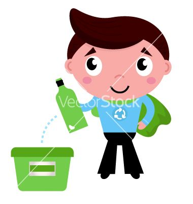 Little recycle super hero recycling garbage vector 1292832 - by lordalea on VectorStock®