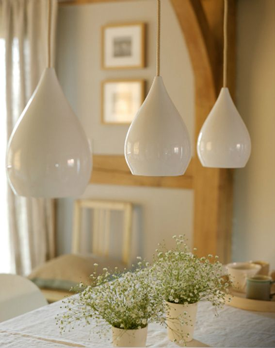 I currently have similar white pendant lights in my kitchen, but I'd love to buy some gold spray paint to refresh these lights and paint something nice on them! #ClaytonPinToWin ($ 10 gold paint)