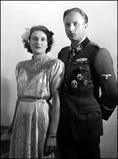 Eva sister Gretl Braun with Hermann Fegelein in June 1944