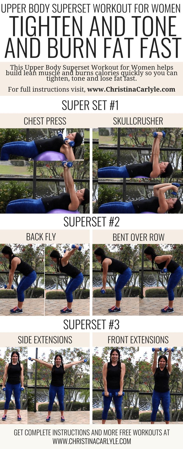 Fat Burning Superset Arm Workout for Women