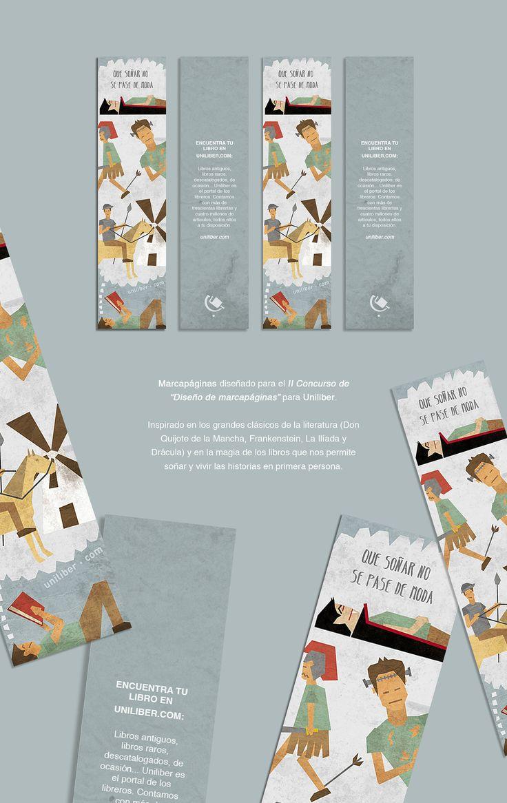 Marcapáginas Uniliber (Bookmark) on Behance por Ana Bustos Fernandez