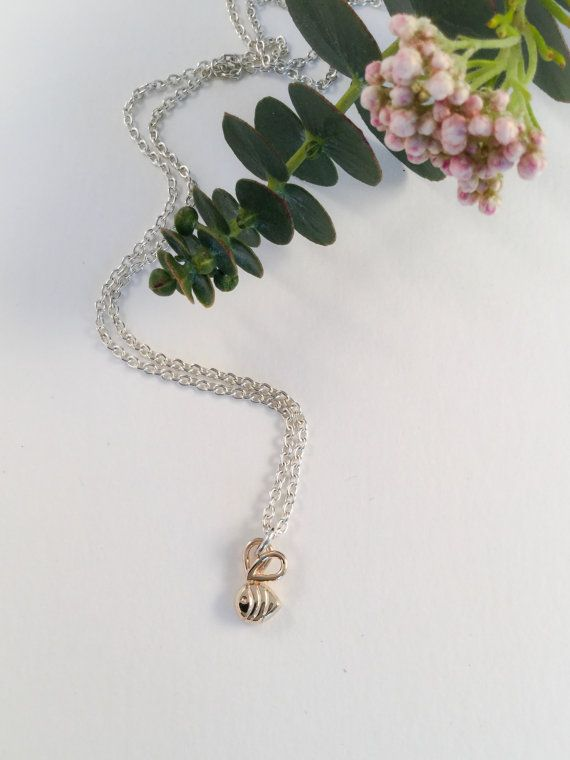 Baby bumble bee Sweetie pendant hand made 9ct by LovesAvenue