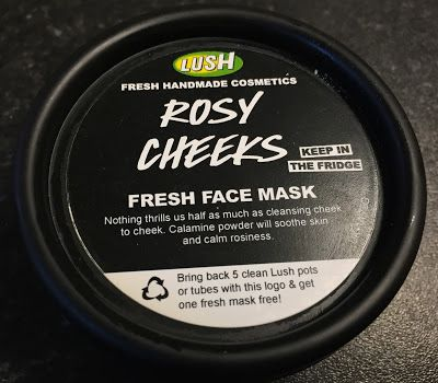 All Things Lush UK: Rosy Cheeks Face Mask. LUSH gets rid of redness on face