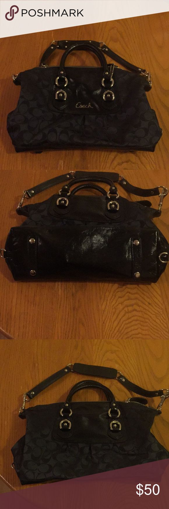 Coach satchel Adorable black Coach satchel. Perfect for a night out. In wonderful condition. No marks or scratches. Bags Satchels