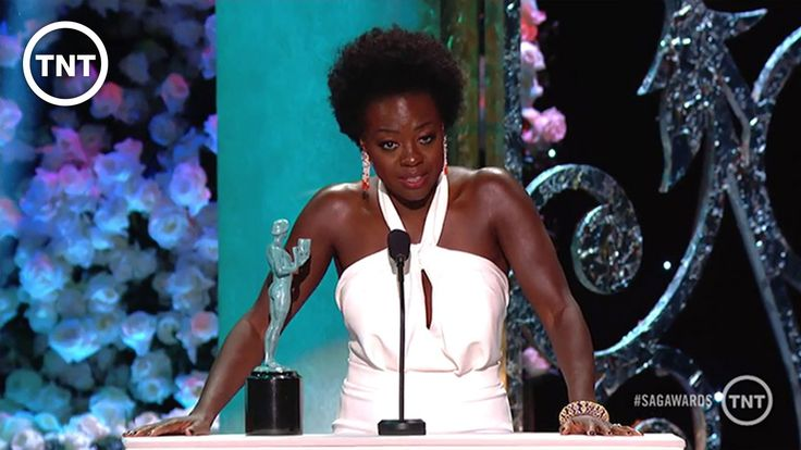 "Viola Davis acceptance speech at the sag awards. She starts off thanking Shonda Rhymes and others ""for thinking that a sexualized, messy, mysterious woman could be a 49 year old dark skin African American Woman that looks like me."" Her acceptance speech was amazing due to the many african american women who are told no to certain roles because of their image."