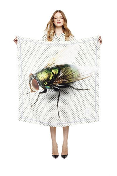 SILK SCARF • FLIES - House Of Cannon