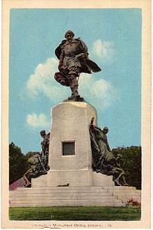 Champlain Monument Orillia Ontario ON Canada Postcard PC