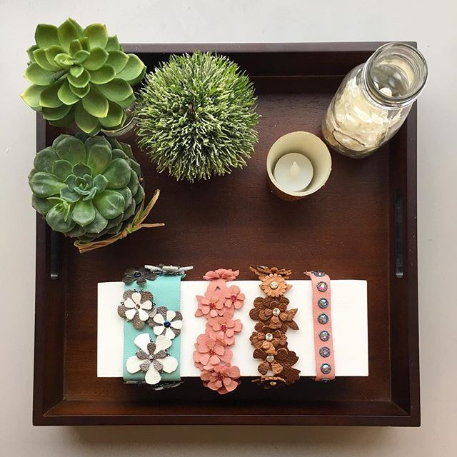 Today is Day 7 of our Photo a Day for National Craft Month and may be one of our favorites: Jewelry! We are SO excited for @jill.mackay's new jewelry line coming this Spring- and we love these bracelets made by both Jill and @tamarahonaman!