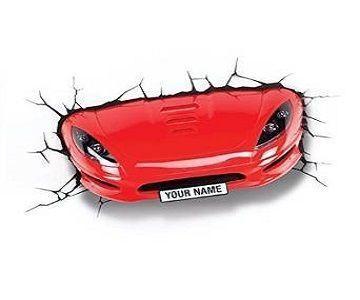 Lamparas de pared 3D Coche Rojo – #3D #Bambas chulas #Cocha de coche #coche #Coc…