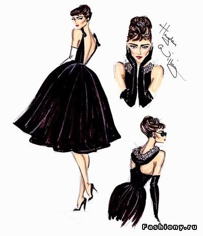 Hayden Williams.Fashion illustrations. I think this is Audery hepburn
