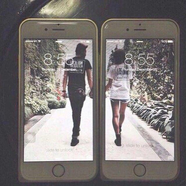Obrigatório fazer celular iPhones eu e ele papel de parede romântico mãos dadas paisagem a dois