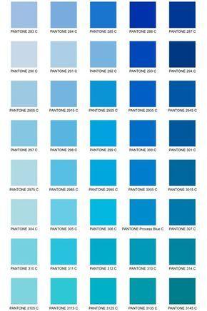 Paleta de Cores Pantone                                                                                                                                                     Mais tonalidades de azul