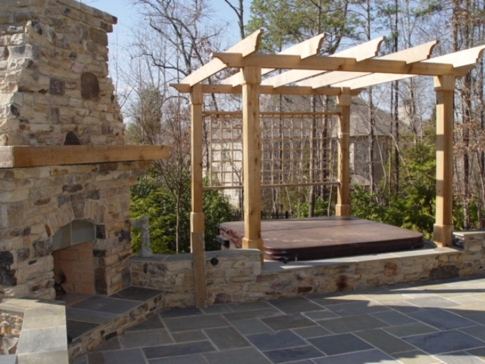 fireplace spa patio ideasoutdoor - Spa Patio Ideas