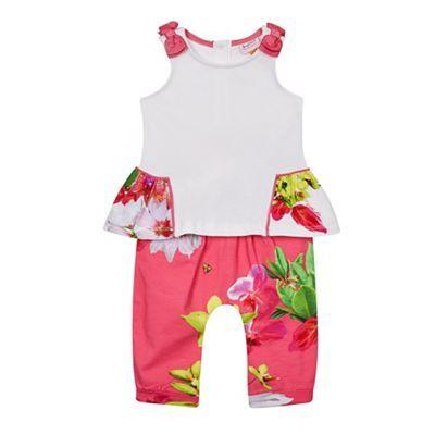 Baker by Ted Baker Baby girls' multi-coloured peplum top and leggings set   Debenhams