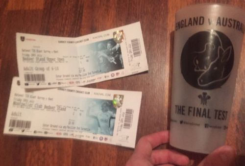 #England v australia #final test cricket #plastic cup & surrey v kent ticket x2,  View more on the LINK: http://www.zeppy.io/product/gb/2/292016367949/
