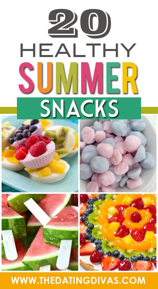 Lots of Yummy AND Healthy Summer Snacks