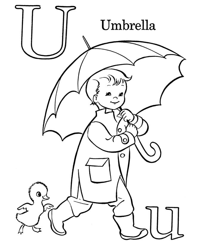 Farm Alphabet ABC Coloring page | Letter U