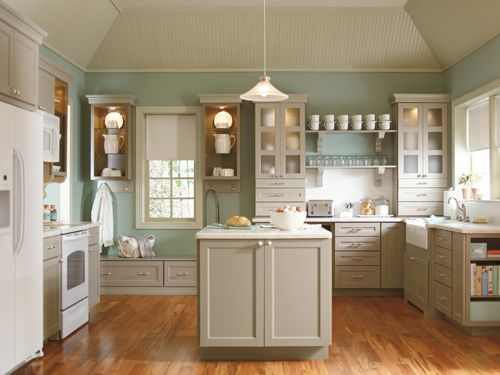 trying to match paint colors to this, it's Martha Stewart's Ox Hill kitchen at home de(s)pot