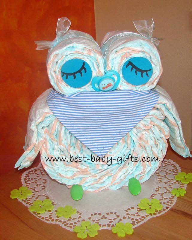 how to make an owl diaper cake video