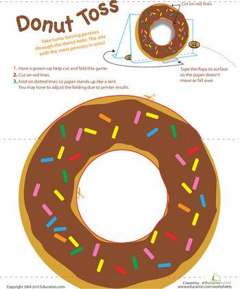 3rd birthday party activity idea - Donut Coin Toss | Education.com