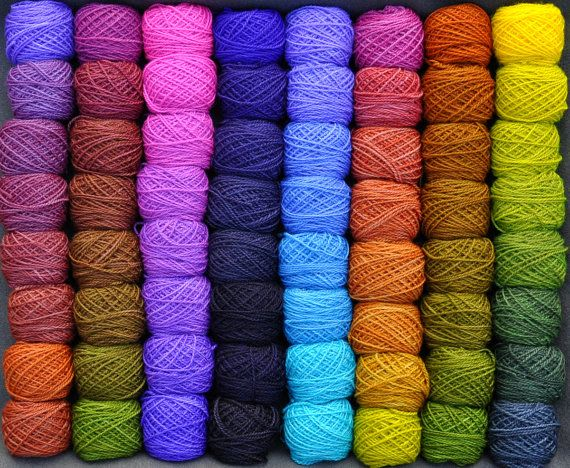 Earth and Sky 64 Color Yarn Design Set by colorshiftyarn on Etsy | OH MY GOD WANT!!!