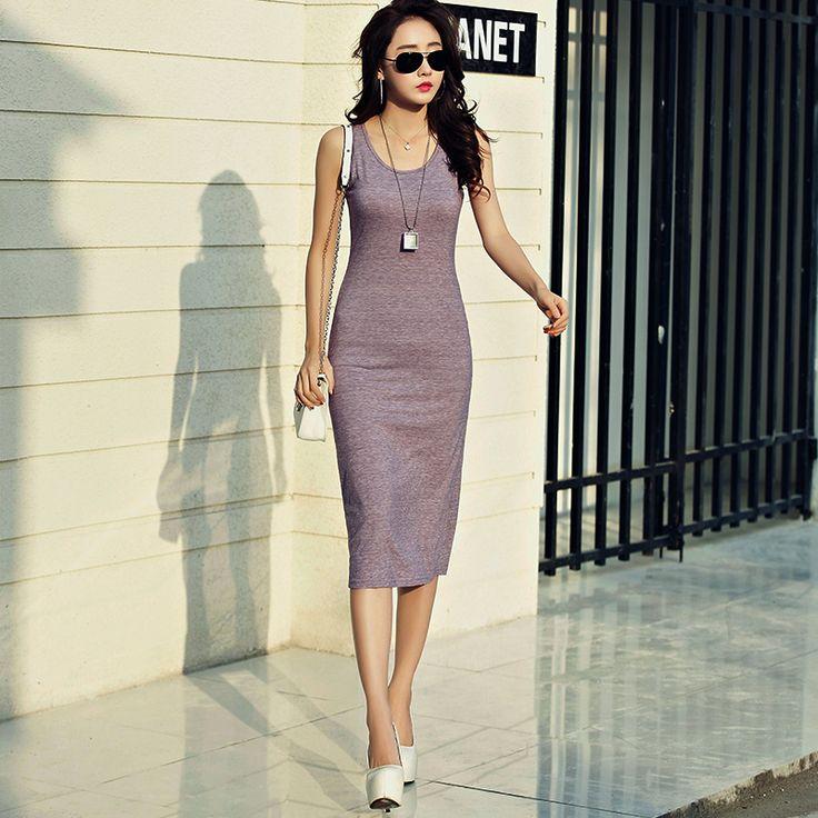 Длинная модель безрукавный жилет платье женщины корея большой двор обтягивающий стройнящий поездка упаковать низ платье летний костюм юбка