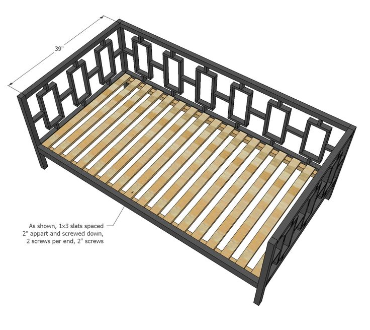 Ana White Build A Rectangles Day Bed Free And Easy Diy