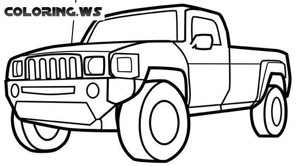Pickup Truck Coloring Page Truck Coloring Pages The Commercial