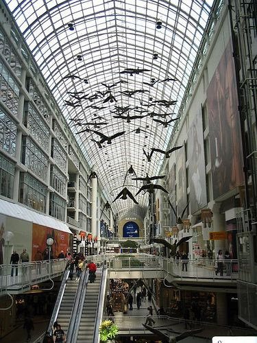 Eaton Centre - While the West Edmonton Mall is Canada's most famous mall, the Eaton Centre may well be the best. This is a central, ideal spot to people gaze and maybe grab a coffee or bite before going out on the town again.